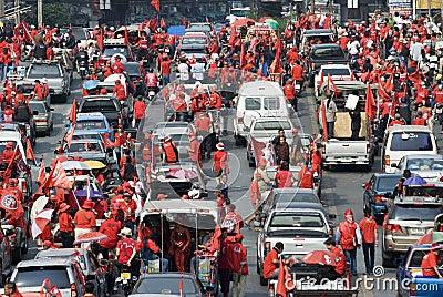 Red Shirt Protest - Bangkok Editorial Image
