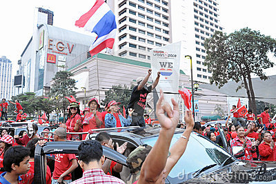 Red-Shirt Protest in Bangkok Editorial Image