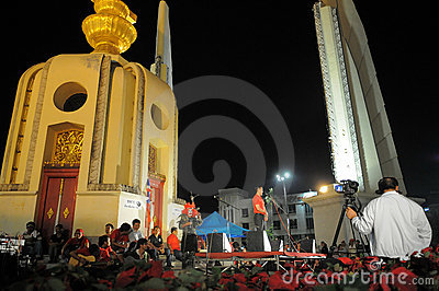 Red-Shirt Protest in Bangkok Editorial Photography