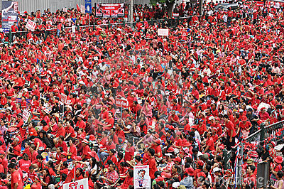 Red-Shirt Protest in Bangkok Editorial Stock Photo