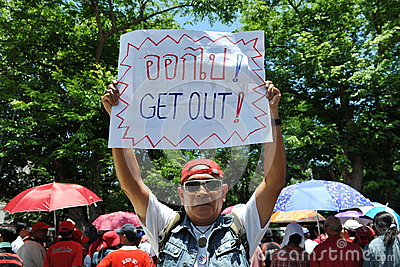Red Shirt Protest Editorial Photography
