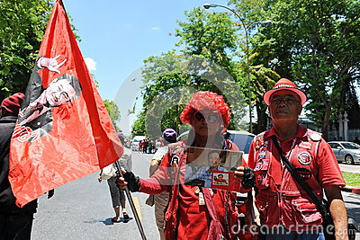 Red Shirt Protest Editorial Stock Photo