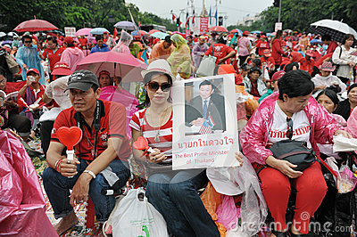 Red-Shirt Rally in Bangkok Editorial Stock Image