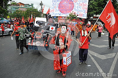 Red Shirt Rally in Bangkok Editorial Image