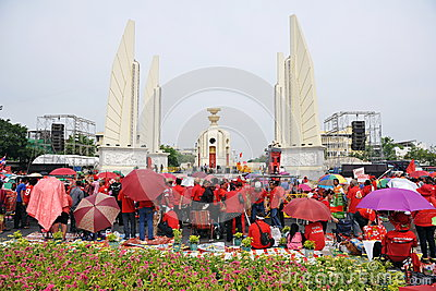 Red Shirt Rally in Bangkok Editorial Stock Image