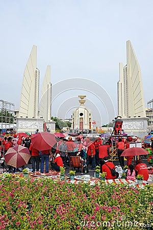 Red Shirt Rally in Bangkok Editorial Image