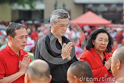 Red Shirt Rally in Bangkok Editorial Stock Image