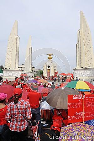 Red Shirt Rally in Bangkok Editorial Photo