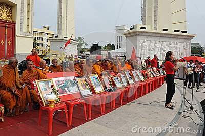 Red Shirt Rally in Bangkok Editorial Stock Photo