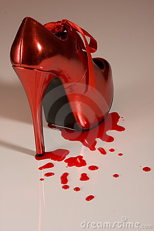 Red Shoe with blood