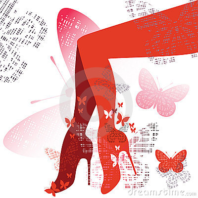 Free Red Shoes And Legs Stock Photos - 14997213