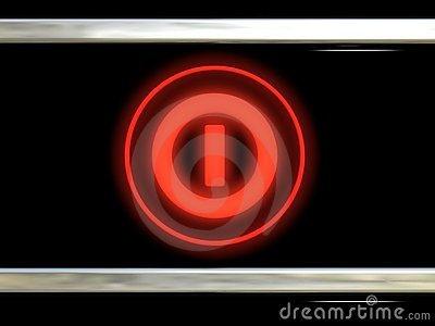 Red shone the button
