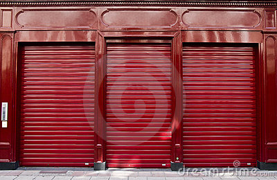 Red shop window