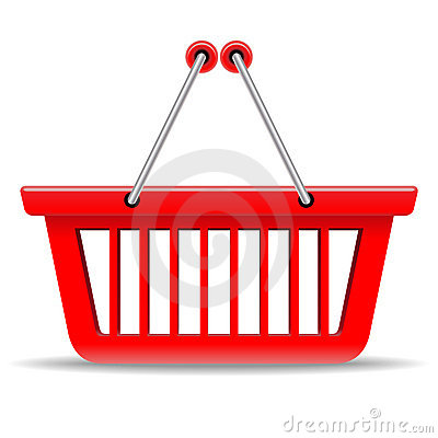 Free Red Shopping Basket Royalty Free Stock Photography - 17498027