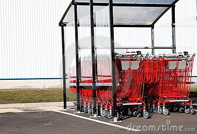 Red Shopping Trolleys