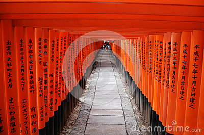 Red shrine gates