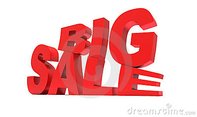 Red sign big sale