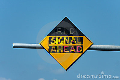 Red Signal Ahead Traffic Sign