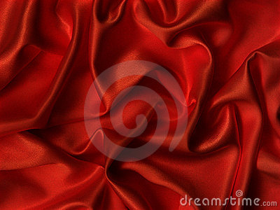 Red silk.