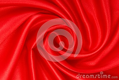 Red silk fabric.