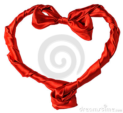 Red silk heart