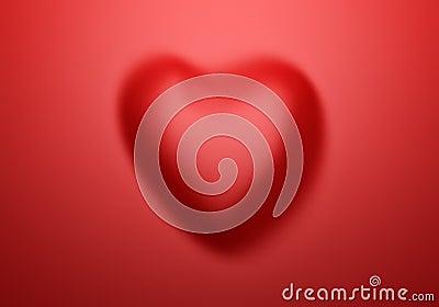 Red silk in Shape of Heart