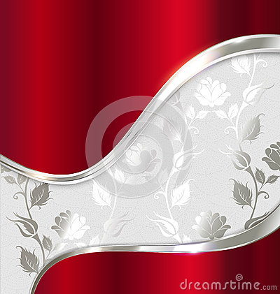 Red and silver abstract background