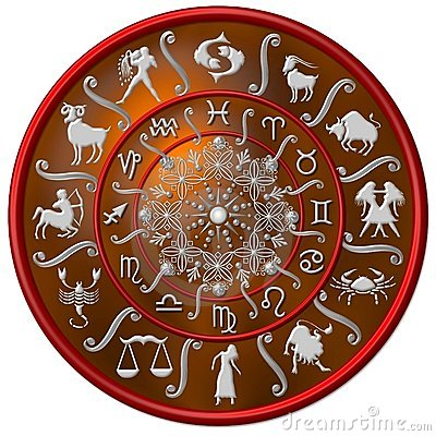 Red and silver zodiac disc