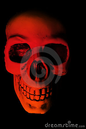 Red Skull Halloween Scare