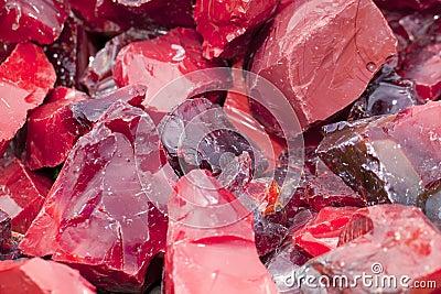 Red Slag Glass