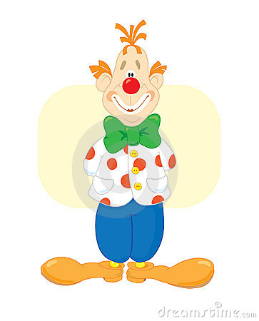 Red smiling clown