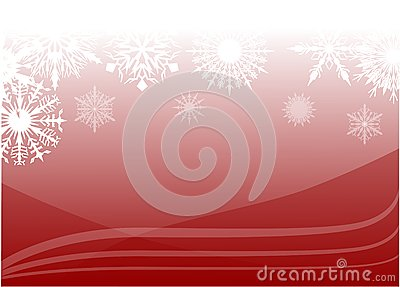 Red snow background illustration