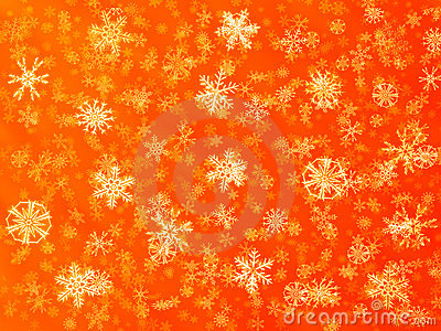 Red snow flake background