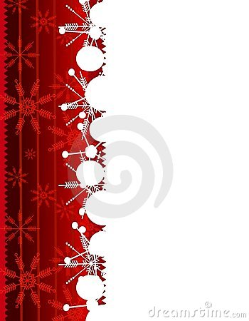 Red Snowflake Christmas Border