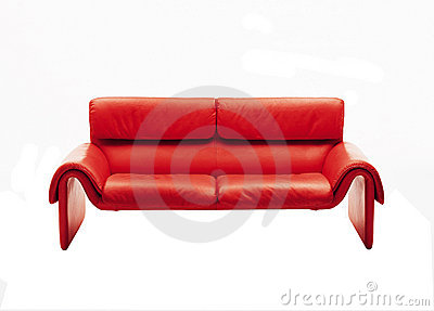 Red Sofa Royalty Free Stock Photography - Image: 4770297