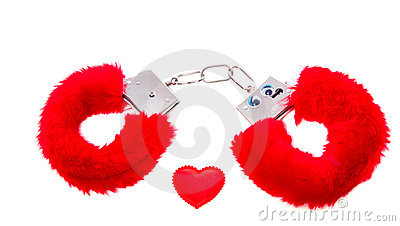 Red soft sexual handcuffs