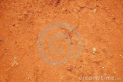 Red soil texture background, dried clay