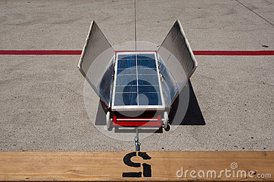 Red Solar Car, Lane 5 Editorial Photography
