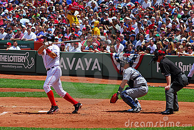 Red Sox, Varitek, Home Run Editorial Photography