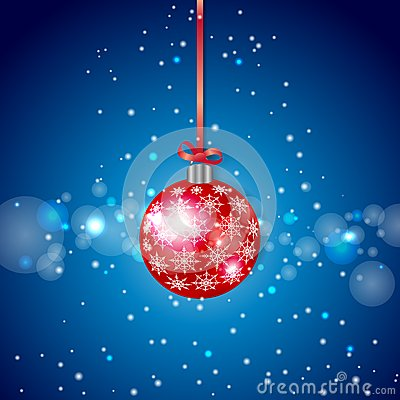 Red Sparkling Christmas Ball
