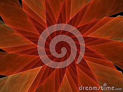Red Spinner Flower