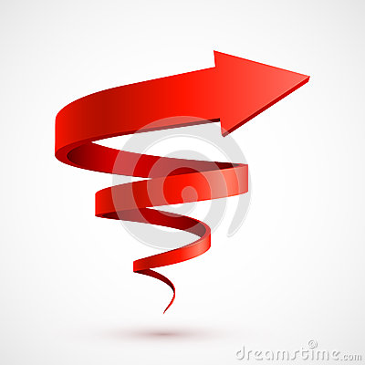 Free Red Spiral Arrow 3D Royalty Free Stock Image - 28618746