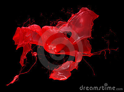 Red splash of paint