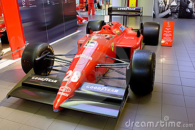 Red sport car Formula 1 Ferrari Editorial Stock Photo