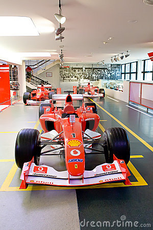 Red sport car Formula 1 Ferrari Editorial Photo