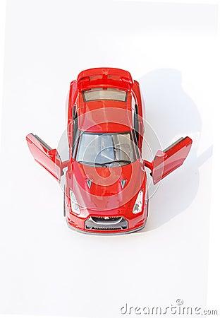Red  sport car model