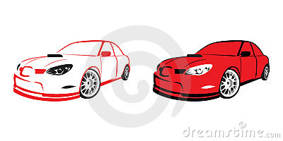 Red sports car - logo