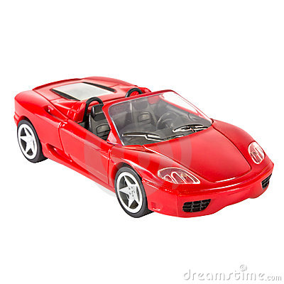 Red sports car miniature Editorial Photo