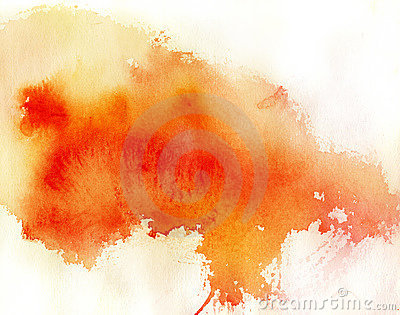 Red spot, watercolor abstract background