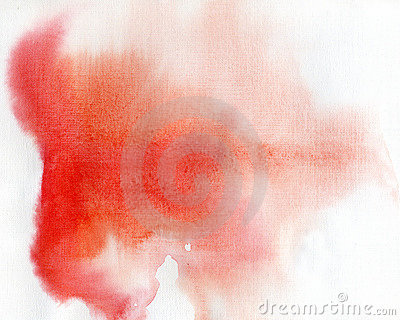 Red spot, watercolor background